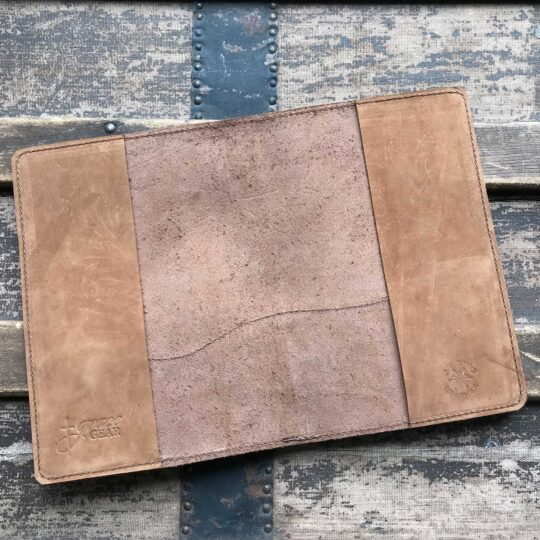 Suede Leather Bible Cover with Turquoise Concho
