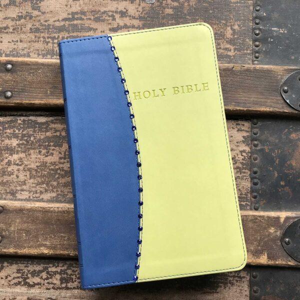 KJV Giant Print Reference Bible in Blue & Green