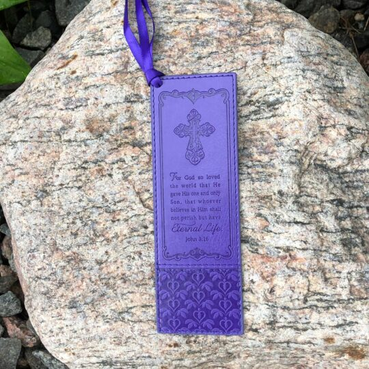 Purple John 3:16 Bookmark