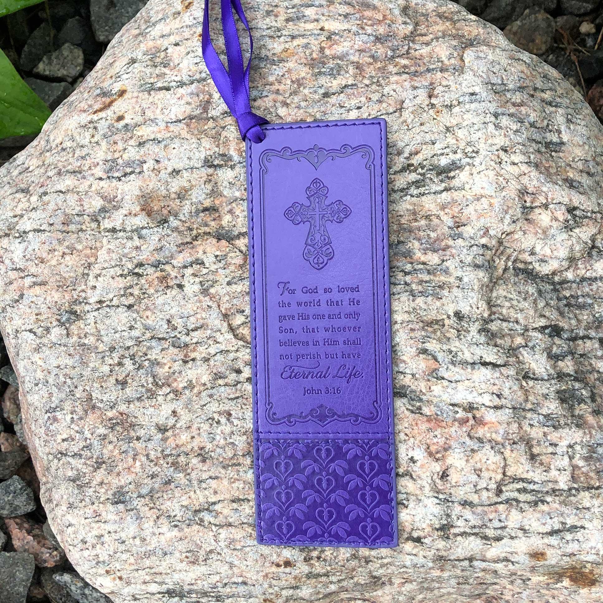 Purple John 3 16 Bookmark