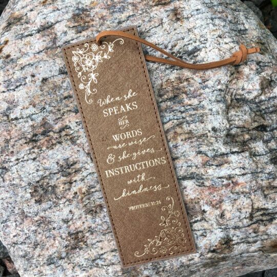 Brown Proverbs 31:26 Bookmark